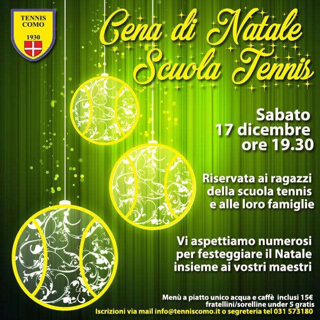 Auguri Di Natale Tennis.Il 17 Dicembre La Cena Di Natale Della Scuola Tennis Tennis Como