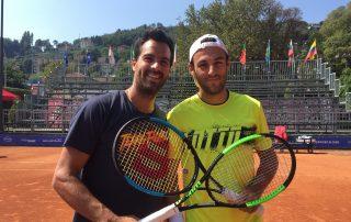 Salvatora Caruso e Stefano Travaglia al Challenger di Como